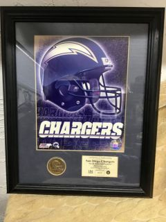 1970 San Diego Charger Limited Edition Picture & Coin- Framed