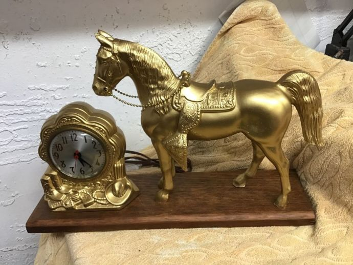1950's Horse Clock- Great Working Condition