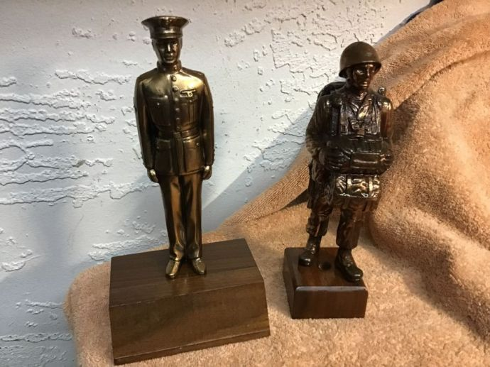 Military Statues- Very Collectable has not eq
