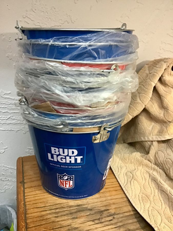 Bud Light Metal Buckets